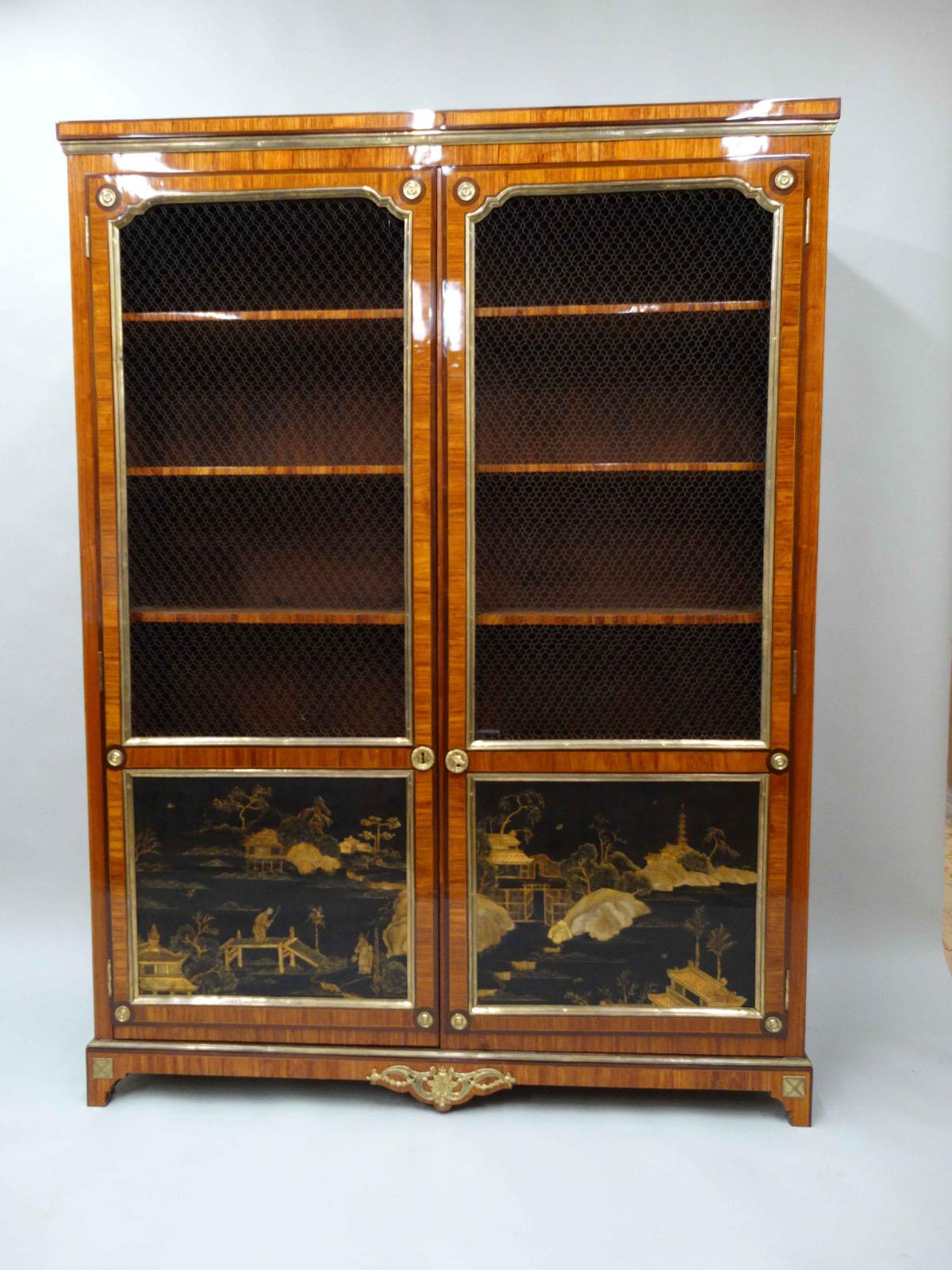 100 paire u0027encoignures au vernis martin kraemer for Lion meuble montreal